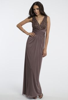 Camille La Vie Pleated Cut Out Prom Dress or Guest of Wedding Dress