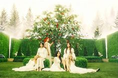 GFRIEND - Apple (MV) - Song of The Sirens - Teaser - 200711 K Pop, Bts Jimin, Apple Garden, G Friend, Book Aesthetic, Bridesmaid Dresses, Wedding Dresses, Girl Crushes, Sirens