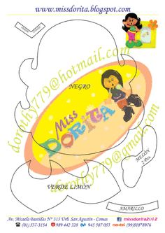 Portafoto Niña #goma #eva #foami #manualidades #hacer #moldes #plantilla #patrones #fieltro - Manualidades Emoji Coloring Pages, Scrapbook Albums, Doll Patterns, Pikachu, Cool Things To Make, Cute Bears, Patron Couture, Decorated Notebooks, Beginner Sewing Patterns