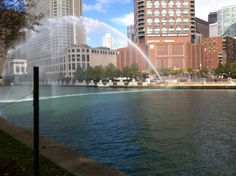 Chicago River water cannon