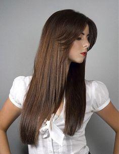 Креативная стрижка на прямые длинные волосы