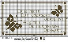 Condoleance cross stitch pattern