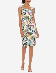 Floral Midi Sheath Dress from THELIMITED.com