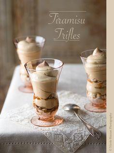 A super-quick and easy recipe for delicious tiramisu trifles.