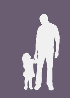 Daddy and me, Silhouette picture by Christian Dakin Brown - Little Love Art ;)