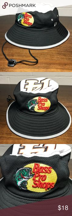 5f9c92c423a Bass Pro Shops Tony Stewart NASCAR Bucket Hat New Era One Size Fits All Bass