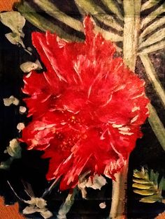 Hibiscus  Acrylic on Canvas  Artwork by Sharon Wood  For Sale  swoody@internode.on.net