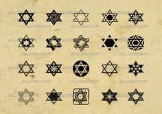 Digital SVG PNG JPG star of david icon, judaism, jewish, torah, hebrew, silhouette, vector, clipart, instant download