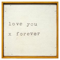 {Forever and Ever} Sugarboo Designs Little Print Love You X Forever from @Layla Grayce #print #sugarboodesigns #laylagrayce