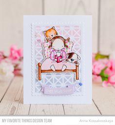 Bed Rest stamp set and Die-namics, Up in the Air stamp set and Die-nmaics, Stitched Rectangle Scallop Edge Frames Die-namics, Framework Stencil - Anna Kossakovskaya #mftstamps
