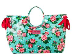 This gorgeous beach bag is a must-have accessory for Summer. Super stylish with plenty of space for towels, magazines and more! Red Turquoise, Aqua, Large Bags, Peonies, Diaper Bag, Reusable Tote Bags, Shoe Bag, Beach, Polyvore