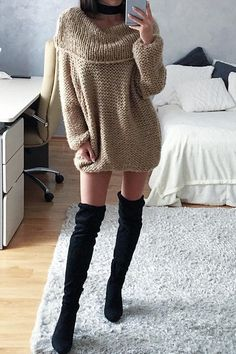 Cupshe Fashion Women's Off the Shoulder Knitting Casual Sweater Knitwear with Lapel
