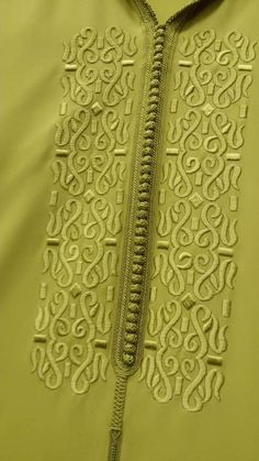 Morrocan Fashion, Morrocan Dress, Moroccan Caftan, Zardozi Embroidery, Floral Embroidery Patterns, Hand Embroidery Designs, Kurti Neck Designs, Dress Neck Designs, Kurta Designs Women