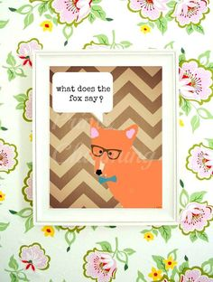 What Does the Fox Say Stylish Sleek and Chic by PrinsCharming, $3.99