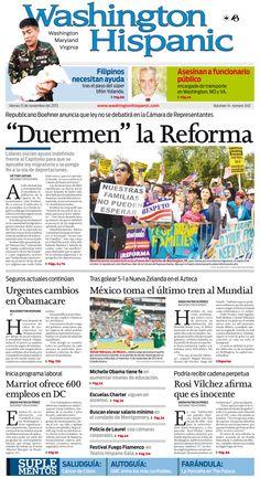 Edición impresa del 15 de Noviembre de 2013: http://washingtonhispanic.com/index.php?mod=historico&id=320
