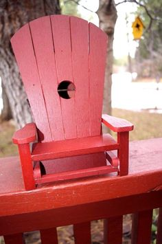 Bird House, Resin Adirondack Chair by Outside Inside Gifts #OutsideInside