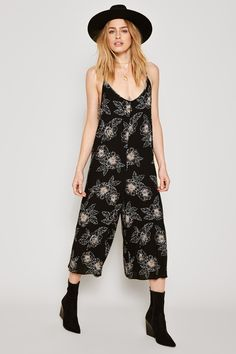 The Serene Jumper is a printed gauze crepe with adjustable straps. One and done, this jumper was made for the weekend.