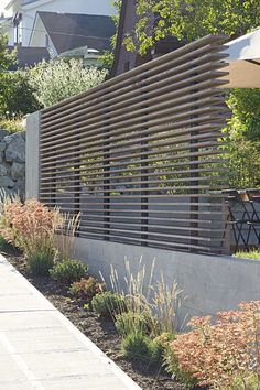 Privacy with air flow by SHED Architecture & Design - Portage Bay Yardscape / SHED Architecture & Design  /   Modern landscape design  /   Detail #LandscapeDesign
