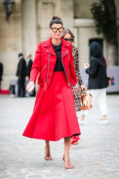 Giovanna Battaglia is seen outside of the Christian Dior show during Paris Fashion Week Spring Summer 2017 at the Rodin museum on September 30 2016...