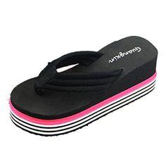 Oferta: 5.87€. Comprar Ofertas de Chanclas mujer plataforma gruesa, Culater Sandalias de verano zapatillas de interior al aire libre zapatos de playa (39, Negr barato. ¡Mira las ofertas!