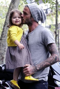 Happy Father's Day to all the great dads out there! #DavidBeckham with daughter Harper