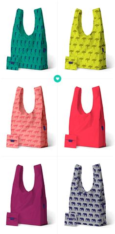 Of course Baggu! They are so much fun I completely adore all the bright colours and cute animal patterns! AND if you needed even mo Reusable Shopping Bags, Reusable Bags, Shoping Bag, Shopping Bag Design, Sewing Jeans, Simple Bags, Fabric Bags, Stuffed Animal Patterns, Cotton Bag
