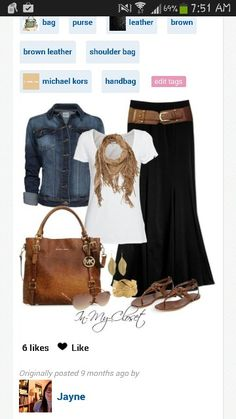 49e5d099e7e Love this outfit and purse... Long Black Skirt Outfit