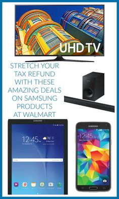 Stretch your refund with these amazing deals on Samsung products at Walmart #Ad  #SamsungAtWalmart #IC