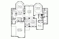 1 story, 2242 square foot, ready-to-build house plan from BuilderHousePlans.com