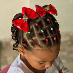 Cute Toddler Hairstyles, Kids Curly Hairstyles, Protective Hairstyles For Natural Hair, Baby Girl Hairstyles, Girls Hairdos, Cute Little Girl Hairstyles, Hair Styles, Kid Hair Dos, Hairstyles For Girls