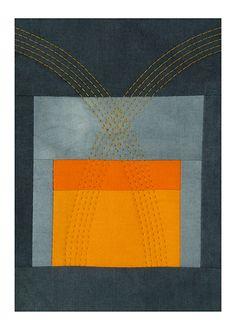 A textile by Kathleen Probst - Orange Spritz