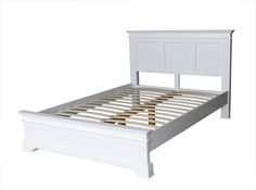 Berkeley Elegance Quality White Double Bed Frame With Low End Leather King Size Bed, White King Size Bed, Leather Bed Frame, King Size Bed Frame, White Double Bed Frame, Double Beds, Minimalist Bed Frame, Queen Platform Bed Frame, Painted Bedroom Furniture
