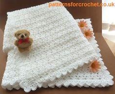 baby crocheted shawl usa ~ free pattern