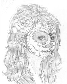 Skull Coloring Pages For Girls  Coloring Pages  Pinterest