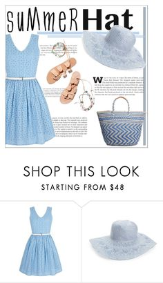 """""""Summer Hat"""" by awwitsmee ❤ liked on Polyvore featuring Yumi, Hinge, Lucky Brand, Ancient Greek Sandals and summerhat"""