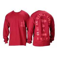 I Feel like Pablo The Real Life of Pablo Yeezy MSG Kanye West Long Sleeve T  shirt Cotton Poly Long Sleeve T-Shirt. 96ede138780
