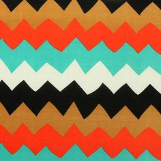 Big Wide Chevron Stripe Cotton Jersey Blend Knit Fabric :: $5.75