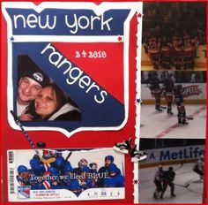 Check out my New York Rangers layout in honor of Game 4 tonight. I also have done a few layouts where I've recreated the logo for the sports team or event. New York Scrapbooking, Scrapbooking Layouts, Scrapbook Pages, New York Rangers, Crafty, Baseball Cards, Logos, Inspiration, Ideas