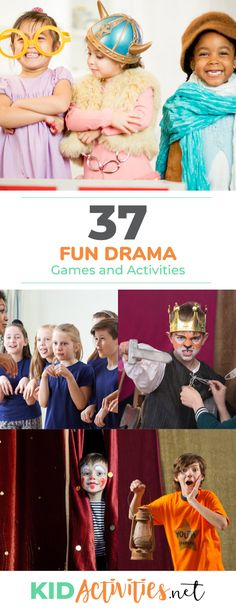 A collection of drama games and activities for kids. These activity ideas are gr… A collection of drama games and activities for kids. These activity ideas are great for drama club and to use while rehearsing for school plays and… Continue Reading → Drama Games For Kids, Drama Activities, Outdoor Activities For Kids, Therapy Activities, Drama Classes For Kids, Elderly Activities, Theatre Games, Building Games For Kids, School Play