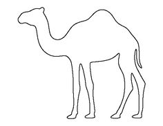 Camel pattern. Use the printable outline for crafts, creating stencils, scrapbooking, and more. Free PDF template to download and print at http://patternuniverse.com/download/camel-pattern/                                                                                                                                                                                 More