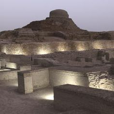 Archaeological Ruins at Moenjodaro in Pakistan. Rementants of the Indus River Valley Civilization from Circa 3000 C.E. ©Pascal Maitre
