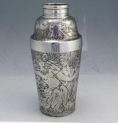 antique Tiffany sterling cocktail shaker