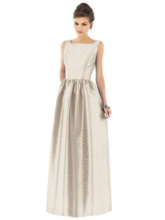 Alfred Sung Style D519  Fabric Dupioni  Color: Champagne *(see pearl pink)