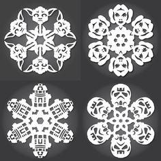 FREE Star Wars snowflake templates. Dozens!