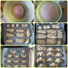 Il paradiso delle dolcezze: LE BRIOCHES PIù SOFFICI DEL MONDO... 500g di farina,metà manitoba e metà 00(io tutta 00) 60-80g di zucchero(dato che a molti non lievitava l impasto,ho diminuito la dose dello zucchero,perchè credo sia quella la causa) 150g di latte tiepido 100g di acqua tiepida un pizzico di sale 1cubetto di lievito di birra 70g di burro a tocchetti vanillina o aromi a piacere sciogliete il lievito in un pò di acqua o latte tiepido. unite tutti gli ingredienti in una ci