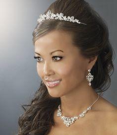 Classic Wedding Tiara with Jewelry set Wedding Headpiece with