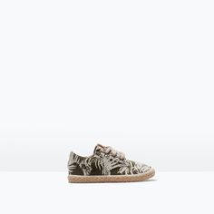 Image 1 of PRINTED LACE-UP ESPADRILLES from Zara