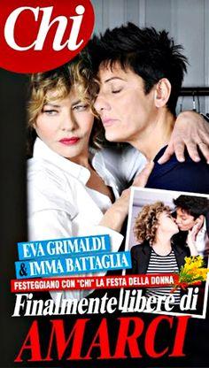"""Eva Grimaldi si è dichiarata lesbica: """"con Imma Battaglia è amore vero"""""""