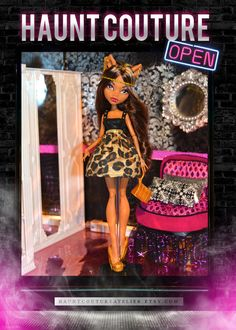 Monster Doll Glam Wolf dress от HauntCoutureAtelier на Etsy