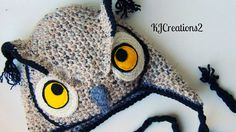 Owl Hat, Crochet Hat, Unisex.Owl Hat, Photo Prop, Photography Prop MADE TO ORDER-Newborn to adult sizes via Etsy